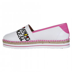 WHITE ESPADRILLAS WITH PINK PROFILE