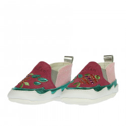 PINK SNEAKER WITH STRASS INSERT