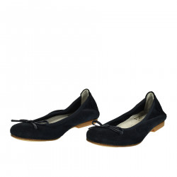 BLUE SUEDE FLAT SHOE