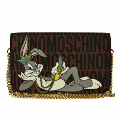 LEATHER POCHETTE WITH BUGS BUNNY PRINT