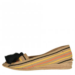 CAMEL ESPADRILLAS WITH BLACK FRINGES