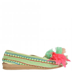MINT ESPADRILLAS WITH FRINGES