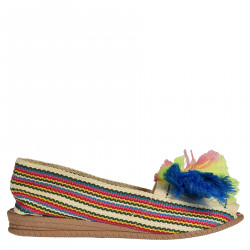 MULTICOLOR ESPADRILLAS WITH FRINGES