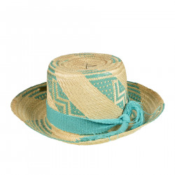 GREEN WATER STRAW HAT