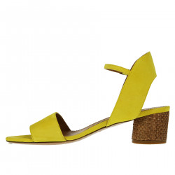 YELLOW SUEDE SANDAL