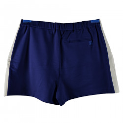 BLUE COTTON SHORT SWITH LATERAL GREY STRIPS