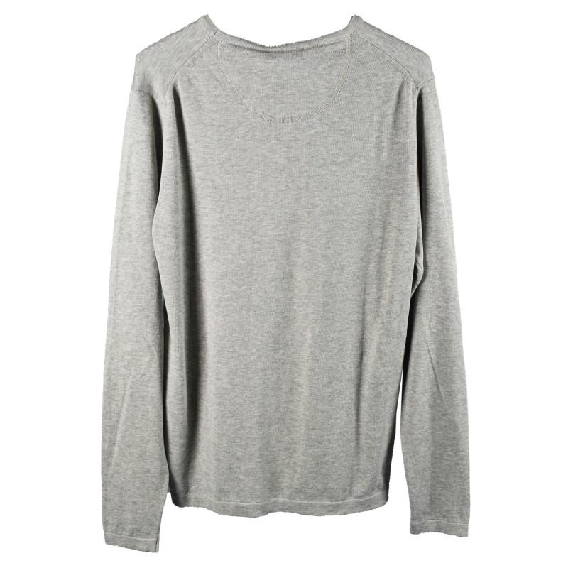 Original Vintage Style Trovaprezzinuovo Grey Cotton Round Neck