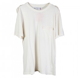 T SHIRT COLOR PANNA CON TASCHINO FRONTALE