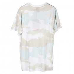 T SHIRT CAMOULFLAGE CON STAMPA NERA