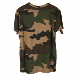 T SHIRT CAMOUFLAGE CON STAMPA BIANCA