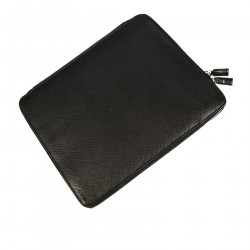 BLACK LEATHER CASE FOR IPAD