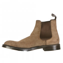 BEIGE LEATHER CHELSEA BOOT