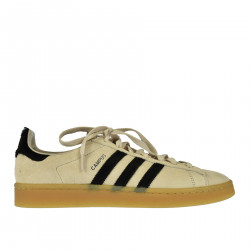 CREAM COLOR LEATHER SNEAKER CAMPUS
