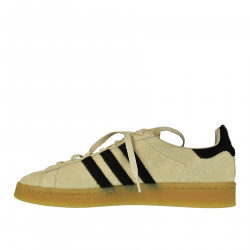 SNEAKER COLOR CREMA IN PELLE CAMPUS