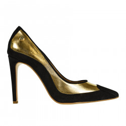 BLACK AND GOLD DECOLLETE
