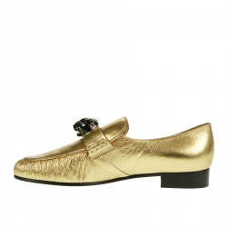 GOLD LOAFER WITH APPLICATION