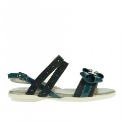BLUE SANDAL WITH STRASS