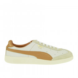 MADRID TANNED WHITE AND BROWN SNEAKER