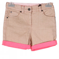 SALMON PINK SHORTS WITH FUCHSIA DETAILS