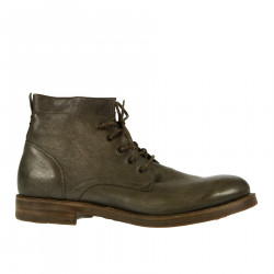 SMOKE LEATHER DESERT BOOT