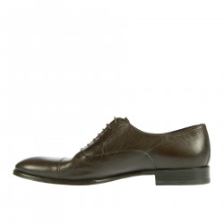 BROWN LEATHER LACE UP SHOE