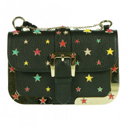 LEATHER SHOULDERBAG WITH MULTICOLOR STARS