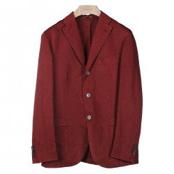 BORDEAUX JACKET WITH NOTCHED LAPEL