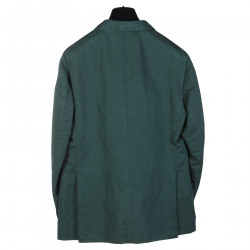 GREEN LINEN AND COTTON BLAZER