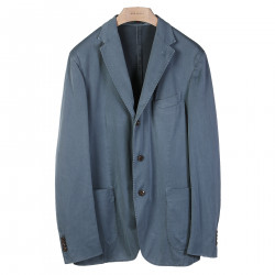COTTON AND SILK GRAY BLUE BLAZER