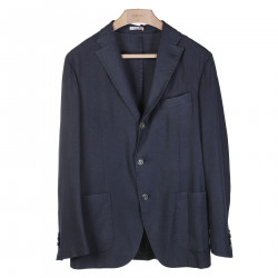 BLUE NOTCHED LAPEL BLAZER