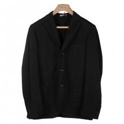 BLACK JACKET WITH NOTCHED LAPEL