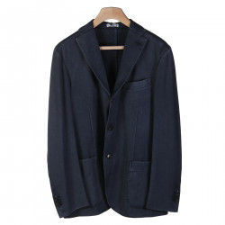 BLUE JACKET WITH NOTCHED LAPEL