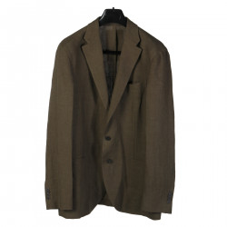 SAGE GREEN JACKET WITH NOTCHED LAPEL