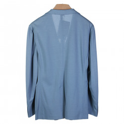 LIGHT BLUE JACKET WITH NOTCHED LAPEL