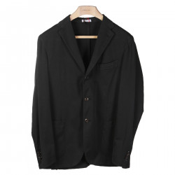 ANTHRACITE NOTCHED LAPEL BLAZER