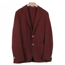 JACKET COLOR PRUNE WITH NOTCHED LAPEL