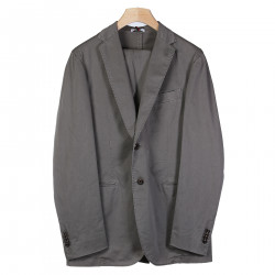GRAY SUIT WITH NOTCHED LAPEL