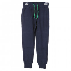 BLUE TRACK SUIT PANTS WITH GREEN WRITINE