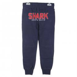 BLUE TRACK SUIT PANTS WITH RED WRITING