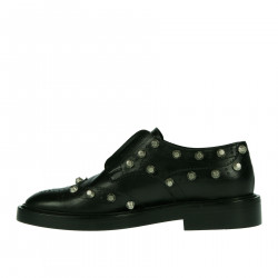 BLACK LACE UP SHOE WITH STUDS