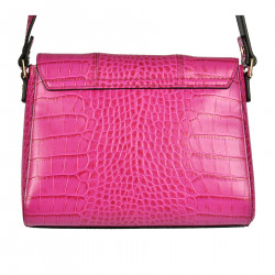 LEATHER FUXIA SHOULDERBAG