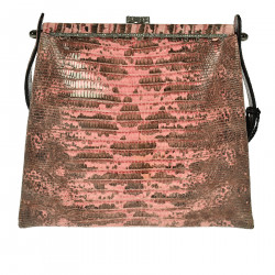 PINK ANIMALIER DESIGN POCHETTE WITH HANDLE