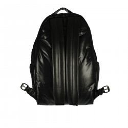 BLACK BACKPACK WITH STARS AND CHAINS DETAILS