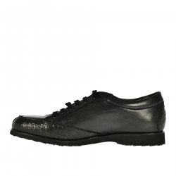 BLACK LEATHER SNEAKER
