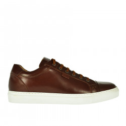 SNEAKER MARRONE IN PELLE