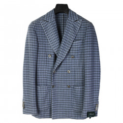 GREY LIGHT BLUE CHECKED BLAZER