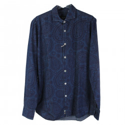 CAMICIA BLU IN FANTASIA ARABESQUE