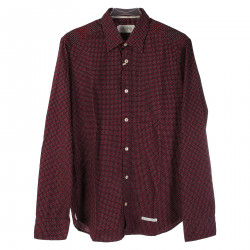 BORDEAUX SHIRT IN MICROFANTASY