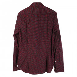 CAMICIA BORDEAUX IN MICROFANTASIA