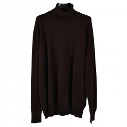 BROWN CASHMERE ROLLNECK